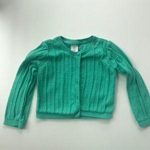 Gap green cardigan